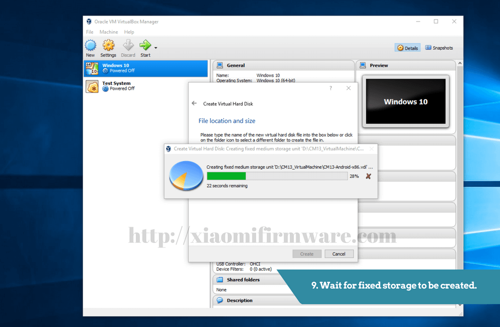 Android-x86 on VirtualBox Virtual Machine