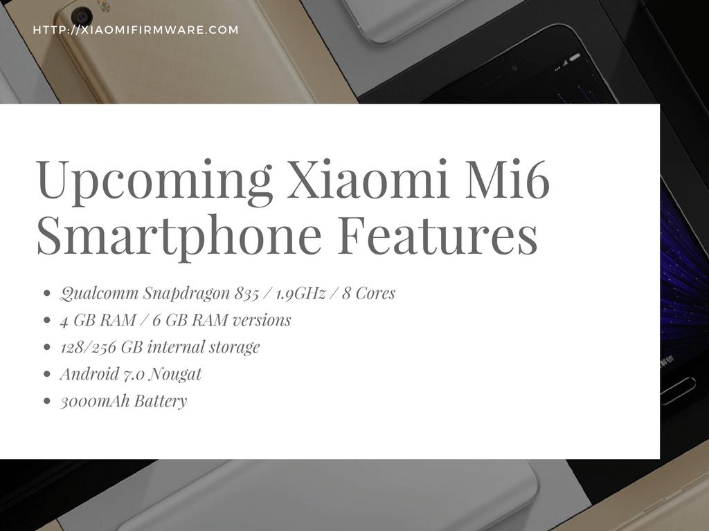 Xiaomi Mi6 Features