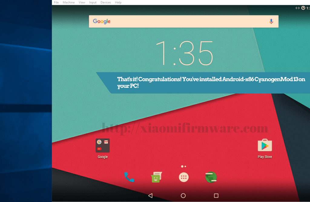Android-x86 CyanogenMod 13 on PC