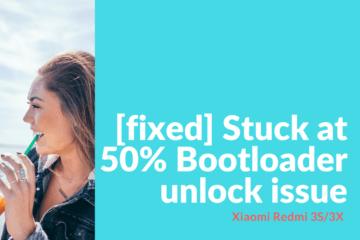 Bootloader unlock issue