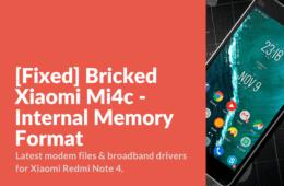 Unbrick Xiaomi Mi4c