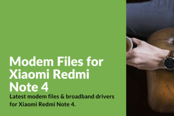 Redmi Note 4 Modem Drivers