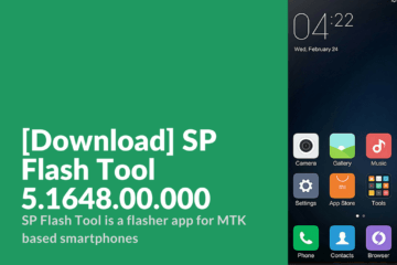 SP Flash Tool 5.1648.00.000
