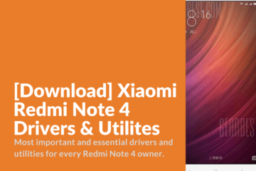 Redmi Note 4 Drivers & Utilites