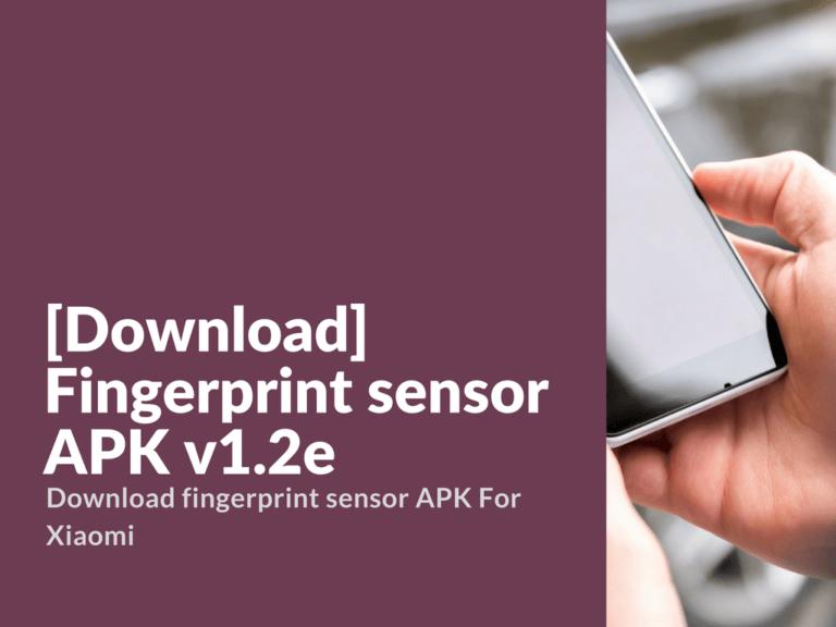 Fingerprint sensor APK v1.2e