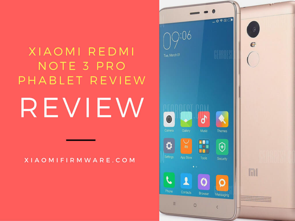 Xiaomi Redmi Note 3 Pro Phablet Firmware