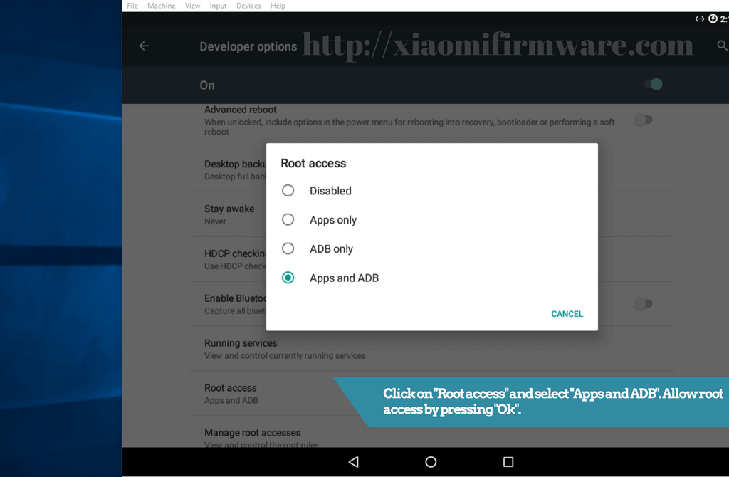 Enable root on Android-x86 CM 13 virtual machine - Xiaomi Firmware