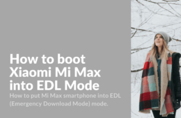 Boot Xiaomi Mi Max into EDL Mode