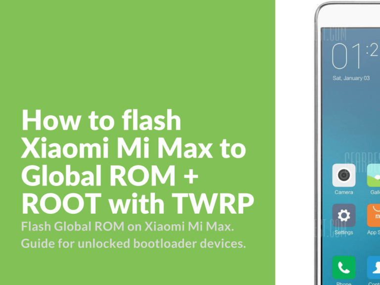 Flashing Mi Max to Global ROM