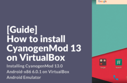 Installing CM 13 Android-x86 on VirtualBox PC