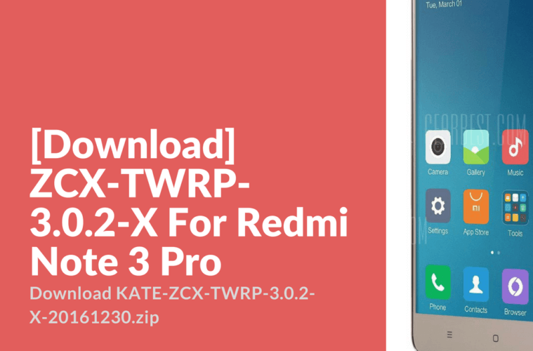 ZCX-TWRP-3.0.2-X For Redmi Note 3 Pro