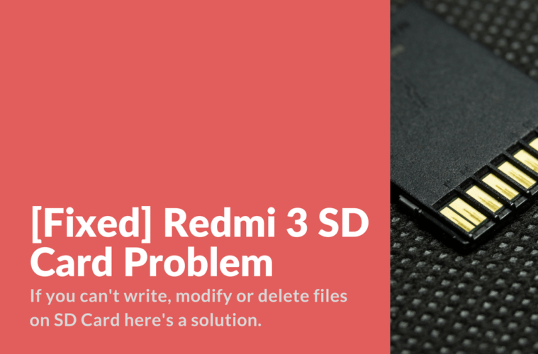 Redmi Note 3 SD Card Problems