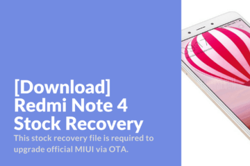 Download Redmi Note 4 Stock Recovery