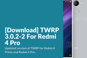 Download and Install TWRP Redmi 4 Pro