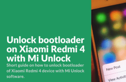 Unlock Bootloader of Redmi 4 Guide