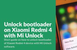 Unlock Bootloader of Redmi 4 Guide