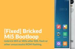 Mi5 Bootloop Fix