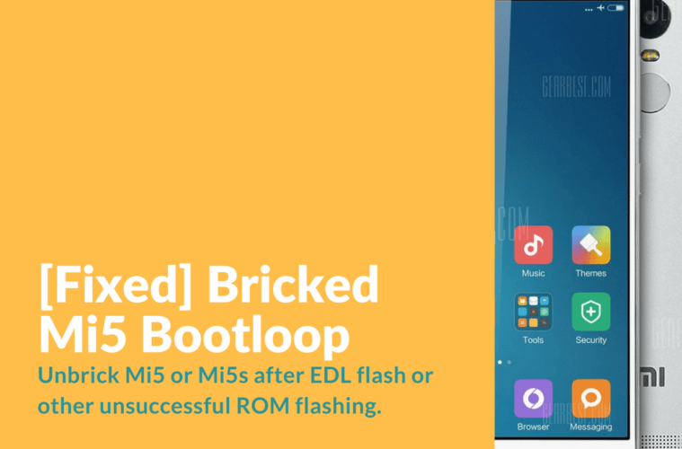 Fixed] Bricked Mi5 Bootloop after OTA update - Xiaomi Firmware