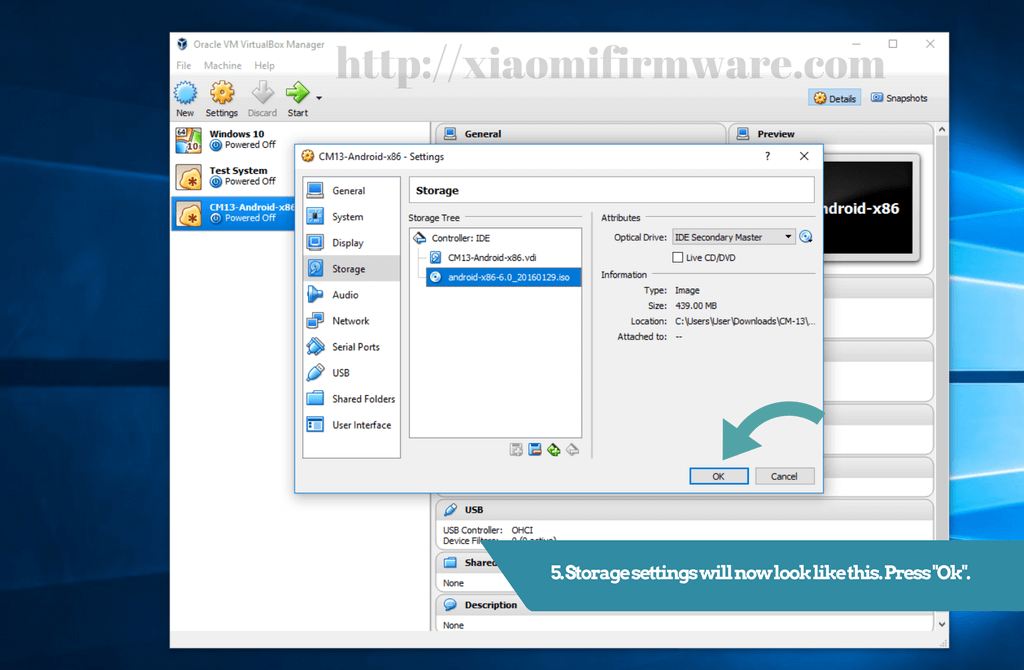 how to run android-x86 4.2 iso on vm virtualbox