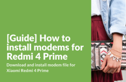 How to install modems for Redmi 4 Prime