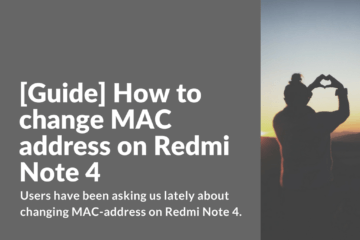 Changing MAC address on Xiaomi Redmi Note 4