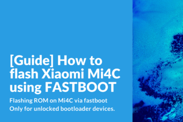 Flashing ROM on Mi4c via fastboot