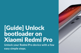 Unlock bootloader on Redmi Pro