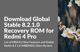 Download Global Stable 8.2.1.0 For Redmi 4 Pro
