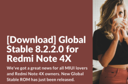 Xiaomi Redmi Note 4X Global Stable 8.2.2.0 ROM