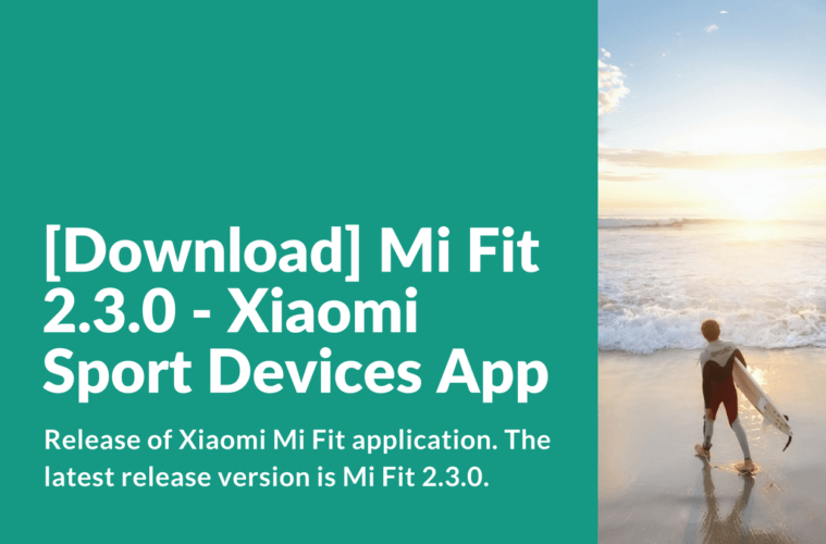 Download and install Mi Fit 2.3.0