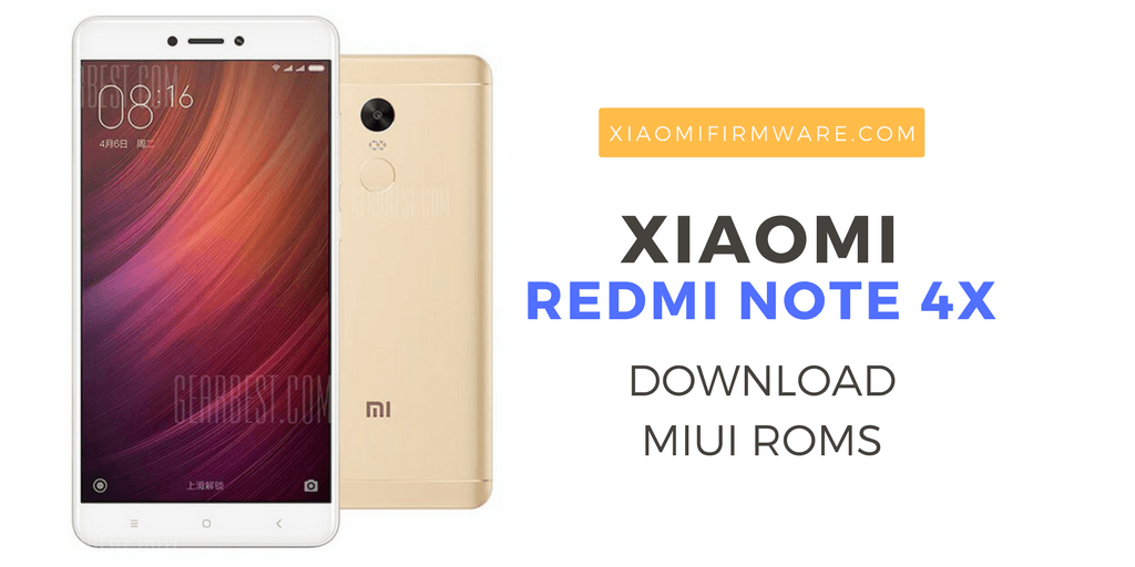 Download Redmi Note Note 4X MIUI Roms