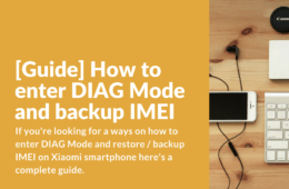 How to enter DIAG Mode and backup IMEI using QPST