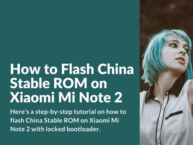 Flash locked bootloader Mi Note 2