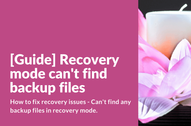 Can't find any backup files in recovery mode.