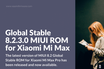 Global Stable 8.2.3.0 MIUI ROM for Xiaomi Mi Max Pro