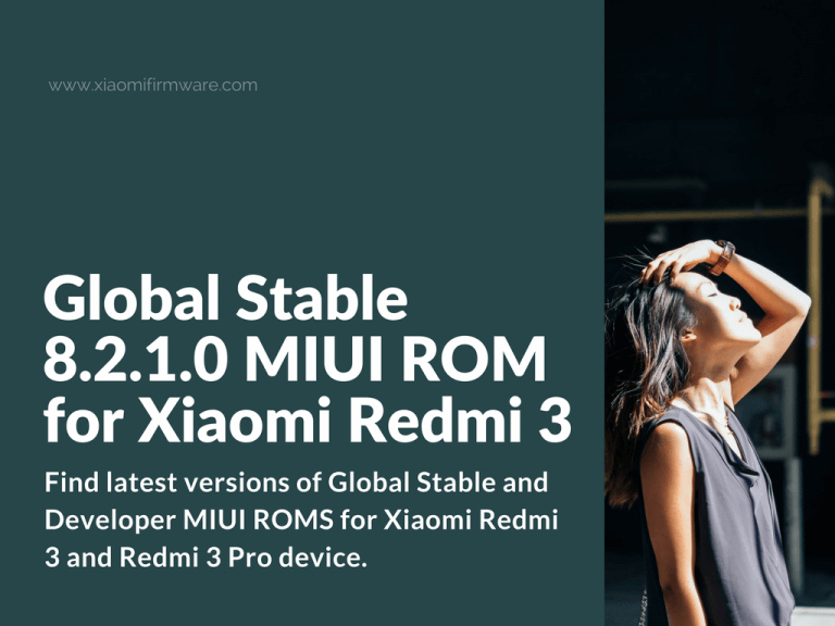 Global Stable 8.2.1.0 ROM for Redmi 3