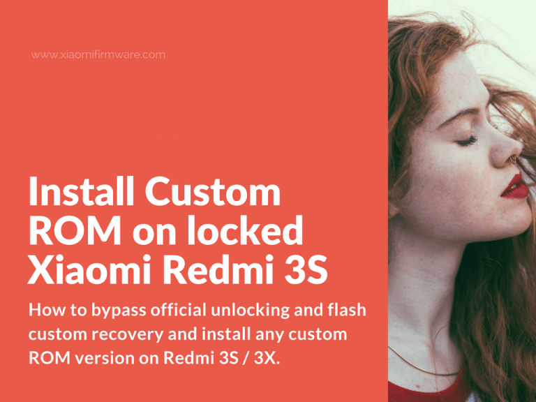 How to install TWRP and flash locked bootloader Redmi 3S