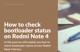 Checking bootloader lock state on Redmi Note 4