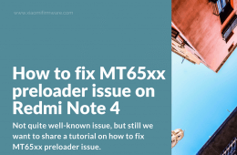 Solution for Unknown Device MT65xx preloader