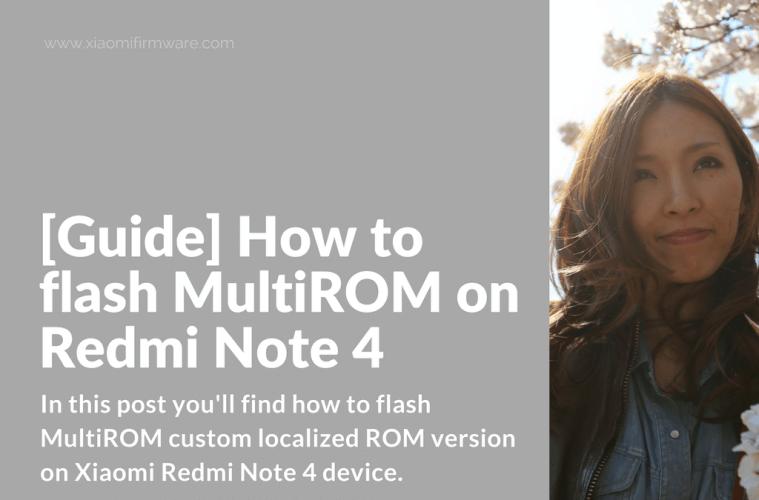 Flashing MultiROM on Redmi Note 4