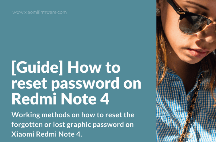 Reset forgotten password on Redmi Note 4