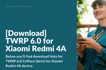 Download and install TWRP 6.0 on Redmi 4A