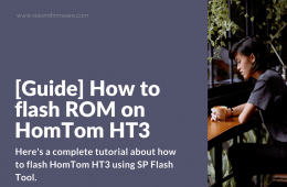 Flash HomTom HT3 with SP Flash Tool