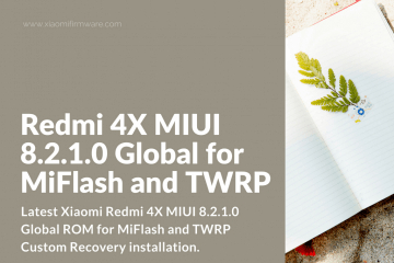 MIUI 8.2.1.0 Global for MiFlash and TWRP
