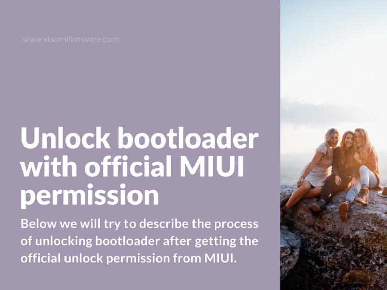 Unlock Xiaomi device with MIUI permission