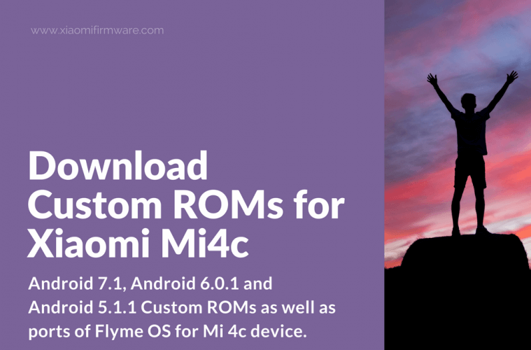 Download the best Custom ROMs for Mi 4c