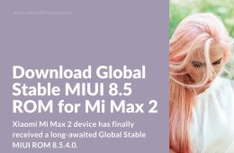 Global Stable ROM 8.5.4.0 for Mi Max 2