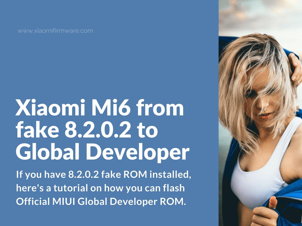 Xiaomi Mi6 from 8.2.0.2 fake ROM to Global Dev