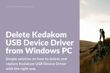 How to get rid of Kedakom USB Device Driver