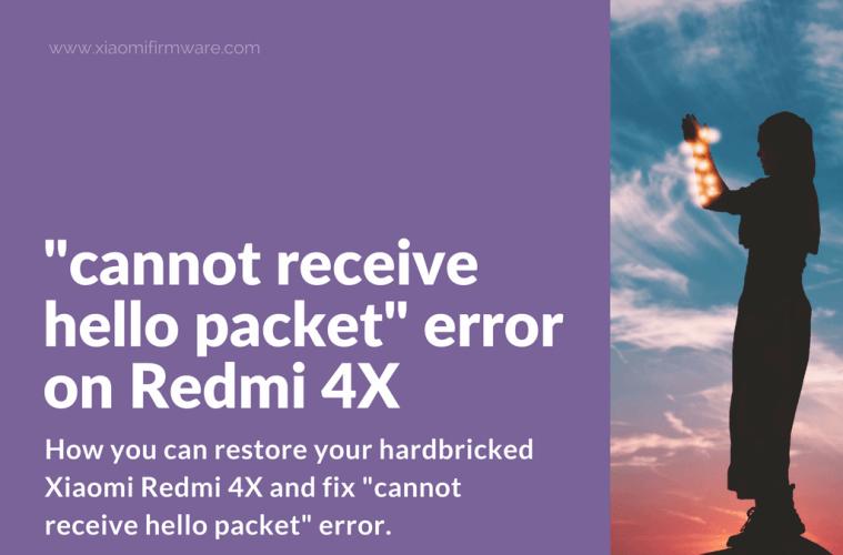 Restore hardbrick Redmi 4X